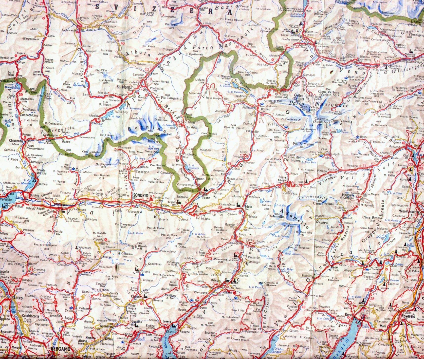 Cartina Autostradale Della Lombardia.Mappa Dettagliata Lombardia Nord Est