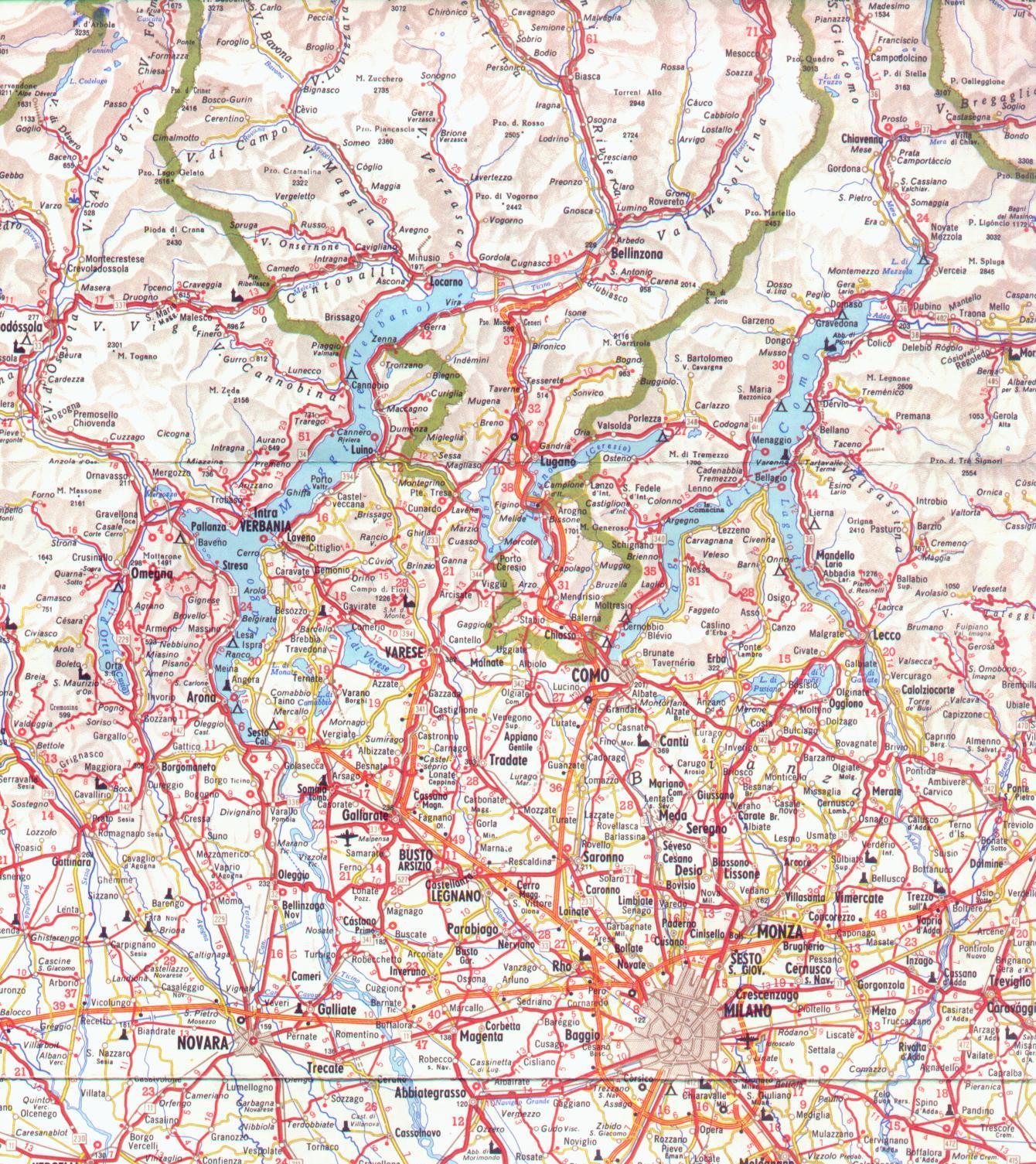 Cartina Autostradale Della Lombardia.Mappa Dettagliata Lombardia Ovest