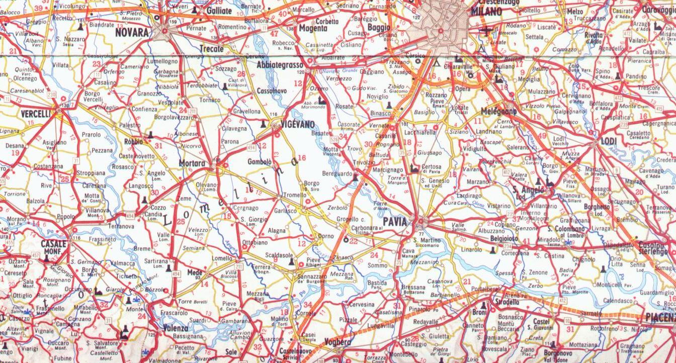 Cartina Dettagliata Lombardia.Mappa Dettagliata Lombardia Ovest