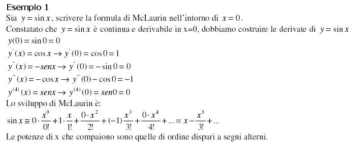 Sviluppo In Serie Di Taylor Esponenziale.Formula Di Taylor E Mclaurin
